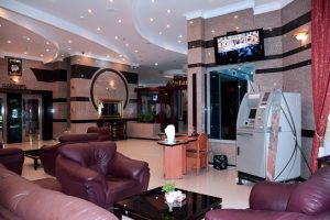 نمای لابی هتل هلیا مشهد