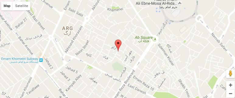 موقعیت هتل آپارتمان آرام نو مشهد روی نقشه