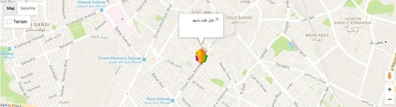 موقعیت هتل هلیا مشهد روی نقشه