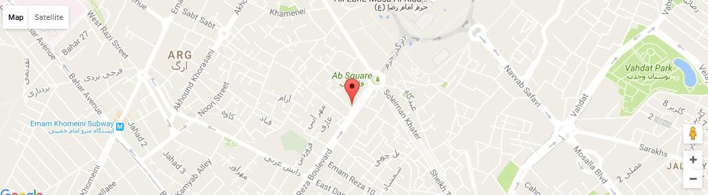 موقعیت هتل جواد مشهد روی نقشه