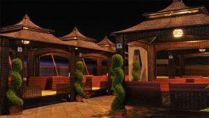 نمای لمکده هتل منجی مشهد