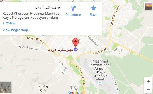 موقعیت رستوران رضایی شعبه نخریسی روی نقشه