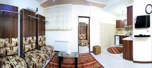 اتاق هتل آپارتمان آروین مشهد