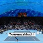 ساخت زمین تنیس زیر دریا در دبی + تصویر