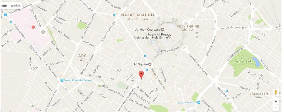 موقعیت هتل جواهری مشهد روی نقشه