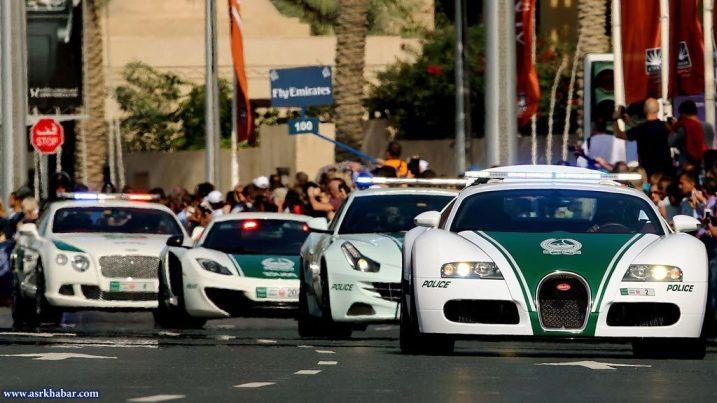 ماشین پلیسهای دبی