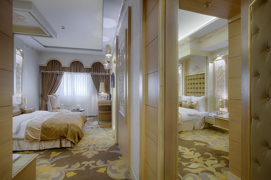 اتاق 2 تخته کانکت معماری تمدن ها هتل الماس 2 مشهد