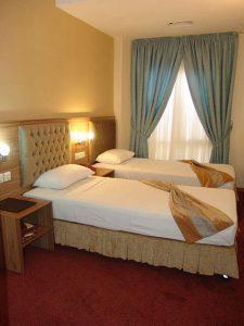 نمای اتاق هتل صادقیه مشهد